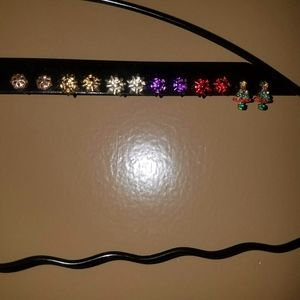 Claire's 6 pairs of Christmas earrings